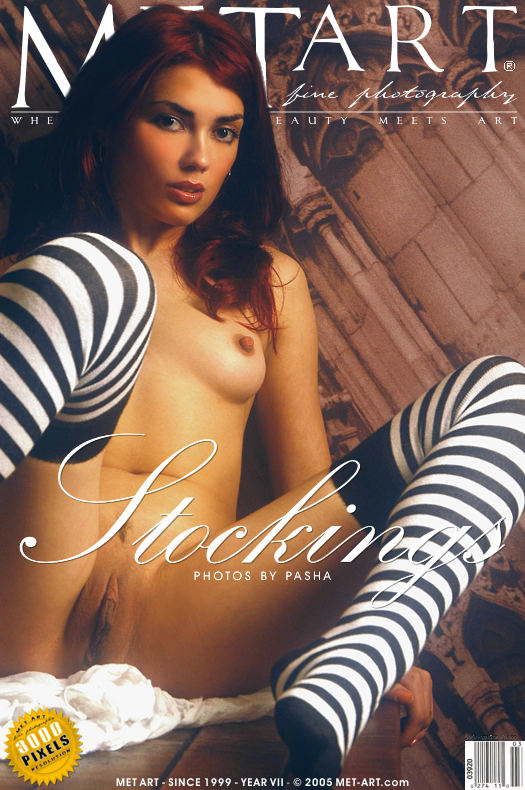 MetArt [2005-03-21_STRIPED-STOCKINGS] 21.03.2005 Nicolette - Striped Stockings by Pasha